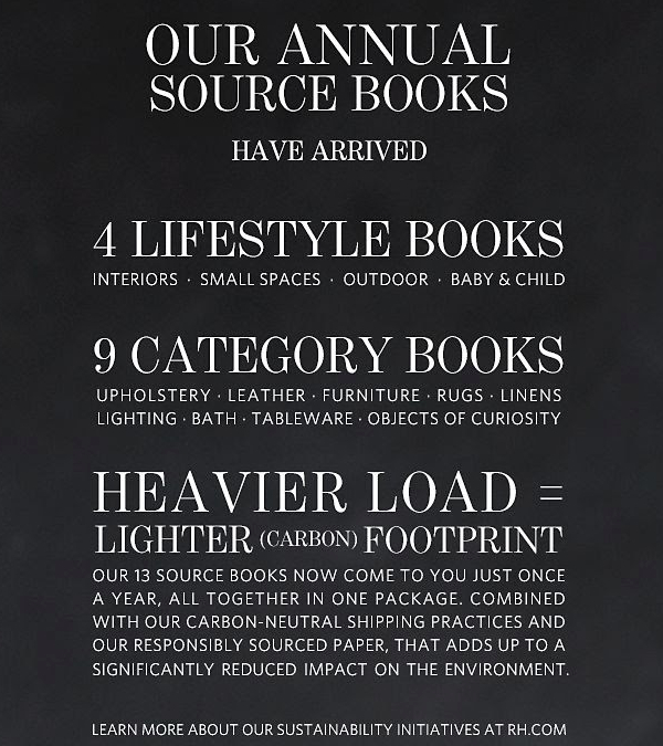 restoration hardware source books environmental message