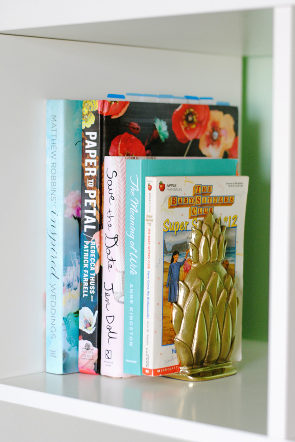 Vintage pineapple bookends