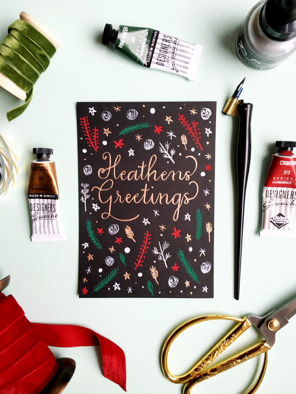 Heathens Greetings Christmas card