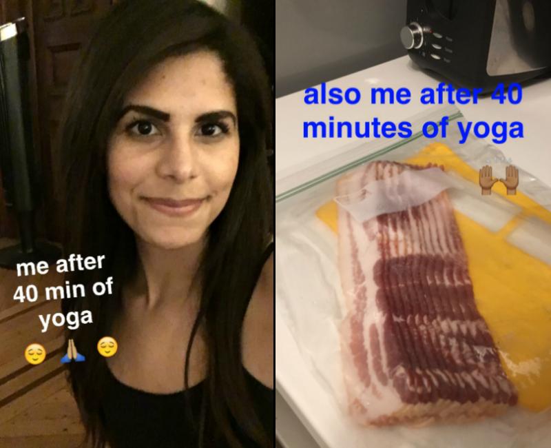 yoga & bacon